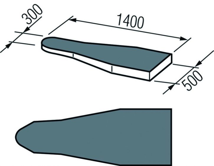 Bügelplatz mit idealer Bügeltechnik - Varioline CR2 S+B